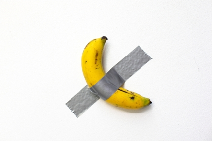 Not the original image, but a duct-taped banana nonetheless