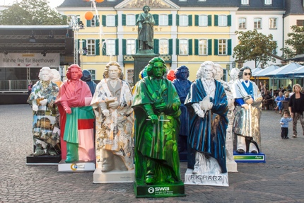 Beethoven statues during the festival