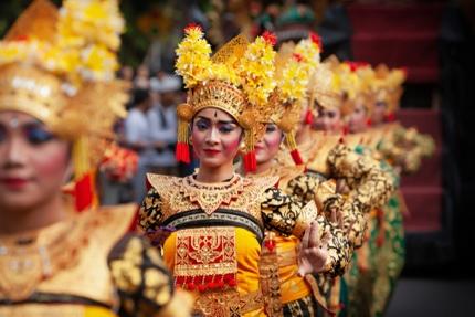 Dancers at the Bali Arts Festival
