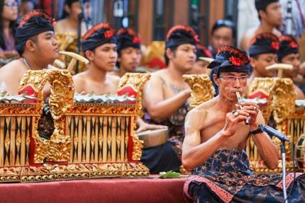 Musicians at the Bali Arts Festival