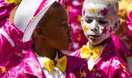 Children celebrating Tweede Nuwe Jaar