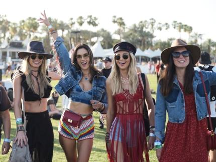 Festival goers at Coachella