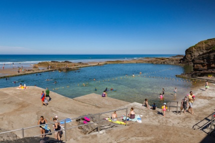 The sea pool in Bude