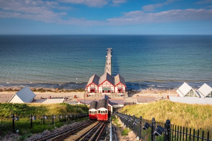 The cliff lift or funicular at Saltburn