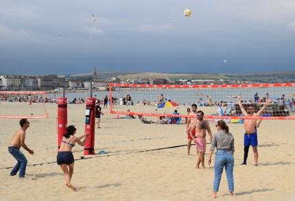 Beach volleyball at Weymouth