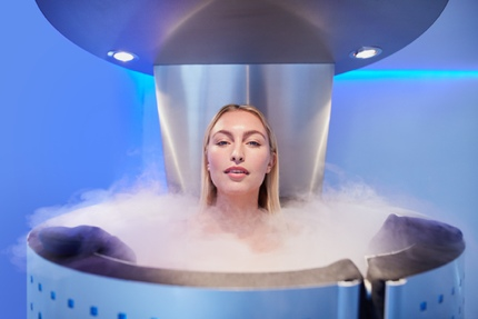 Woman in a cryo chamber