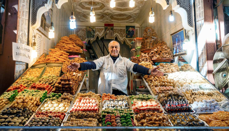 A food vendor in Marrakech, Morocco