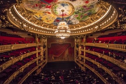 The auditorium of Le Palais Garnier