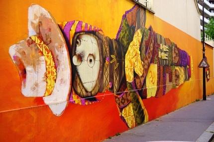 Street art by Chilean artist Inti