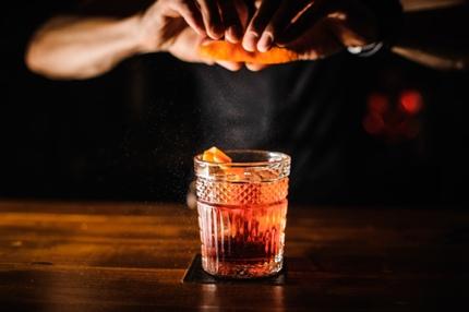 Enjoying a cocktail
