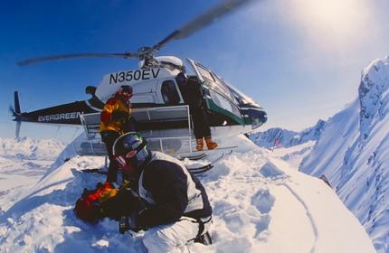 Heli-skiing in Alaska