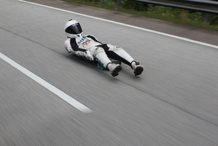Abdil Mahdzan, a two-time world champion in street luge