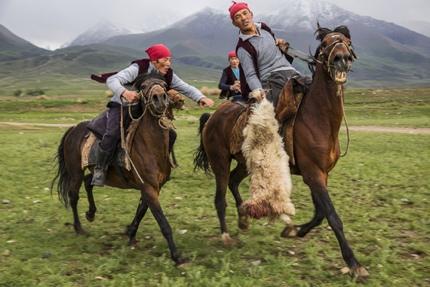 A game of Buzkashi in Kyrgyzstan