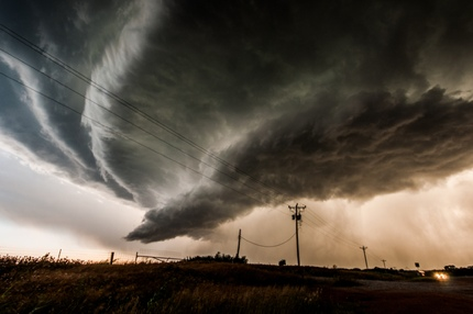 A supercell thunderstorm in Oklahoma